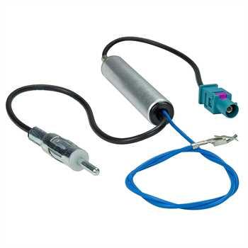 Adapter mit Phantomeinspeisung Fakra (M) -DIN 150