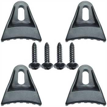 Befestigungsset für Schutzgitter 4 Klammer, 4 Schr