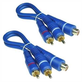 BLUE LINE Cinchkabel Y-Kabel, 2-fach geschirmt, 2