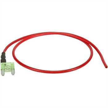 DIN-Mini-Flachsteck-Sicherung 30A, 39cm Anschluß