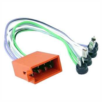 Umrüstadapter DIN, Radio auf Fahrzeug ISO (4 LS)