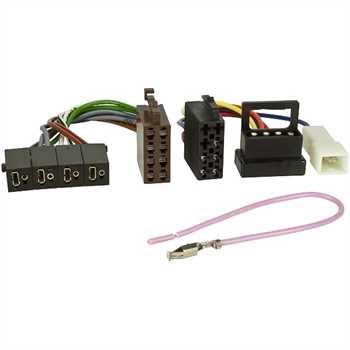Radio-Adapter Set MERCEDES auf ISO (Strom + 4 LS)