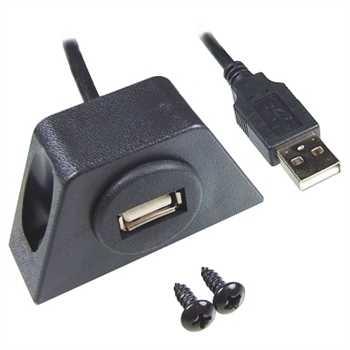 USB-Einbaubuchse mit 200cm Kabel